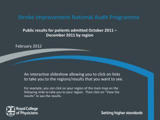 Stroke Improvement National Audit Programme