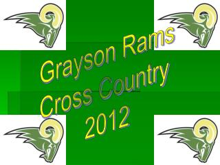 Grayson Rams Cross Country  2012