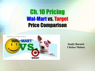 Ch. 10 Pricing Wal-Mart vs. Target  Price Comparison