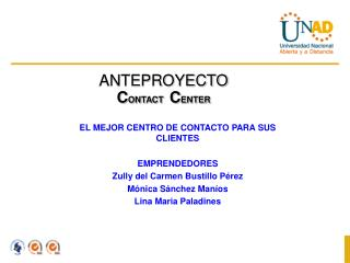ANTEPROYECTO CONTACT   CENTER