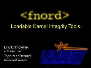 Loadable Kernel Integrity Tools