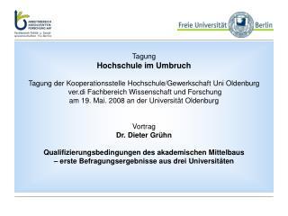 Tagung Hochschule im Umbruch   Tagung der Kooperationsstelle Hochschule