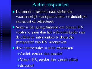 Actie-responsen