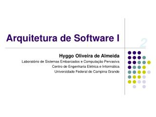 Arquitetura de Software I