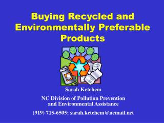 Buying Recycled and Environmentally Preferable Products