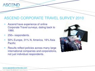 : Corporate travel survey, Jan  10