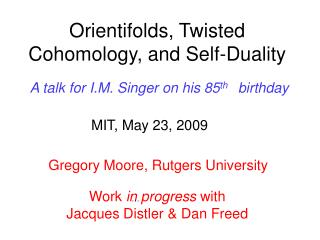 Orientifolds, Twisted Cohomology, and Self-Duality