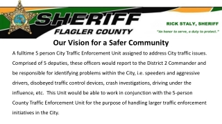 Our Vision: A Safer Community