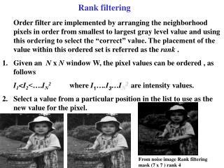 Rank filtering