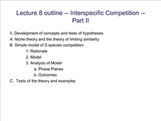 Lecture 8 outline -- Interspecific Competition --  Part II