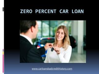 Zero percent interest on cars
