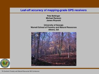 Leaf-off accuracy of mapping-grade GPS receivers