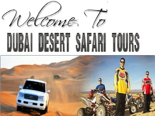 Dubai Desert Safari Tours & Packages