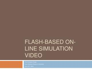 Flash-based On-line Simulation Video