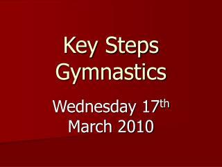 Key Steps Gymnastics