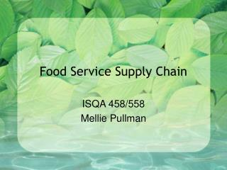 Food Service Supply Chain