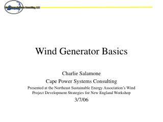 Wind Generator Basics