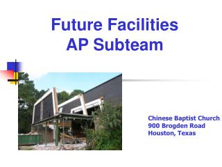 Future Facilities AP Subteam