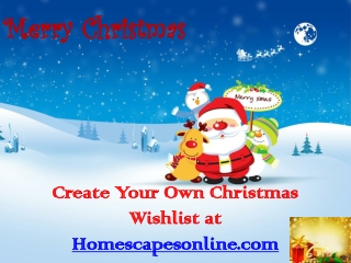 Create Your Own Christmas Wishlist at Homescapesonline.com