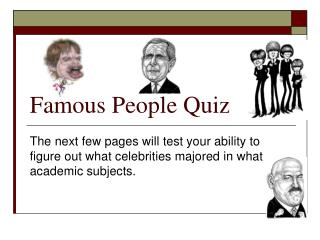 Famous People Quiz