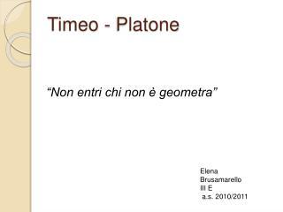 Timeo - Platone