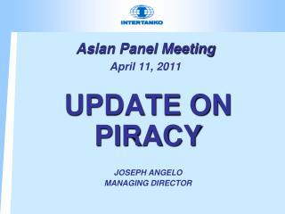 Asian Panel Meeting  April 11, 2011