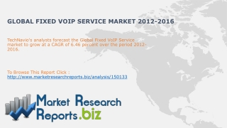 Global Fixed VoIP Service Market 2012-2016
