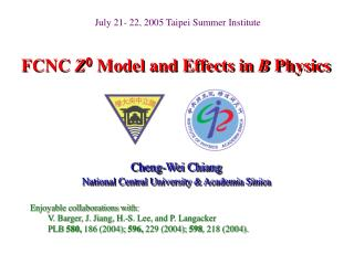 FCNC Z0 Model and Effects in B Physics