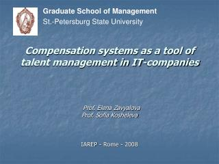 Compensation systems as a tool of talent management in IT-companies