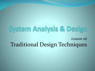 System Analysis  Design