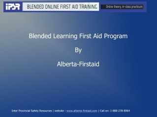 Blended Learning First Aid Program