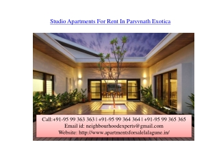 Parsvnath Exotica Apartments for Sale