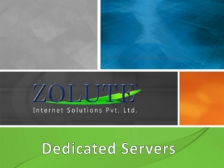 Dedicated Server- Zolute