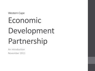 Western Cape Economic Development Partnership