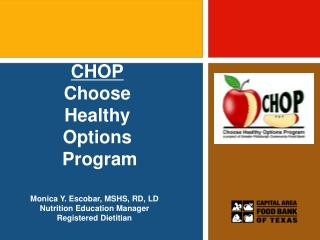 CHOP Choose  Healthy  Options   Program