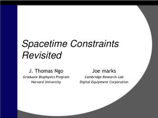 Spacetime Constraints Revisited