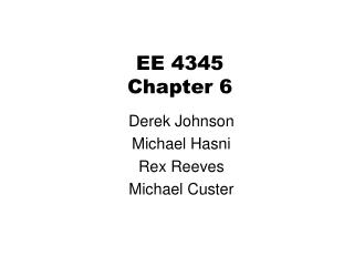 EE 4345 Chapter 6