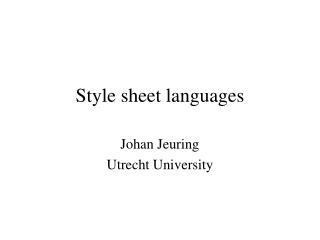 Style sheet languages