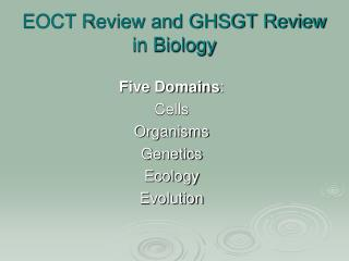 EOCT Review and GHSGT Review in Biology