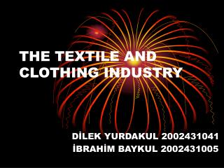 THE TEXTILE AND CLOTHING INDUSTRY