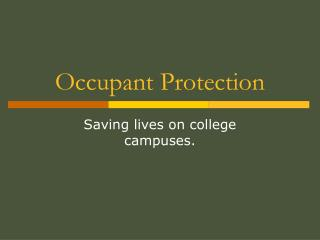 Occupant Protection