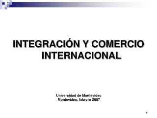INTEGRACI N Y COMERCIO INTERNACIONAL