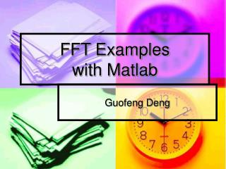 FFT Examples  with Matlab