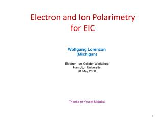 Electron and Ion Polarimetry   for EIC
