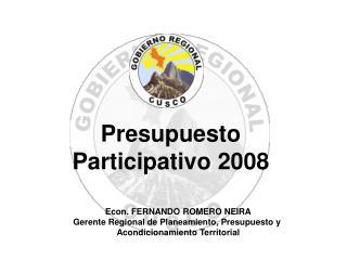 Presupuesto Participativo 2008