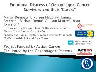 Emotional Distress of Oesophageal Cancer Survivors and their  Carers
