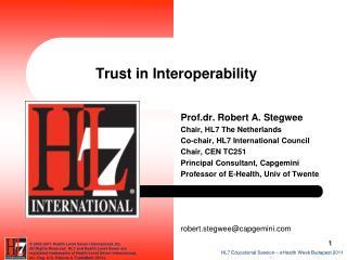 Trust in Interoperability