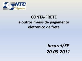 CONTA-FRETE  e outros meios de pagamento eletr nico de frete