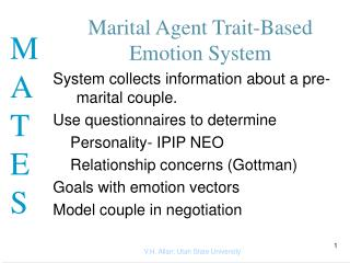Marital Agent Trait-Based Emotion System