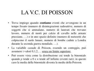 LA V.C. DI POISSON